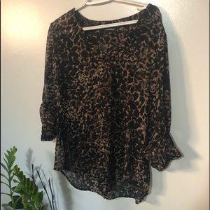 Le Chateau leopard print blouse